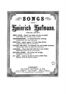 Семь песен для голоса и фортепиано, Op.27: Семь песен для голоса и фортепиано by Генрих Хофманн