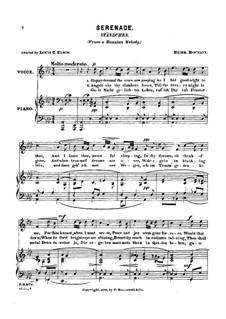 Серенада для голоса и фортепиано: Серенада для голоса и фортепиано by Генрих Хофманн