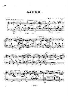 Четыре пьесы для струнного квартета, Op.81: No.3 Каприччио. Версия для фортепиано by Феликс Мендельсон-Бартольди