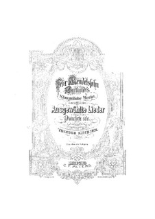 Избранные песни для фортепиано: Избранные песни для фортепиано by Феликс Мендельсон-Бартольди