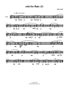 Solo for flute: (2) by Chris Wind