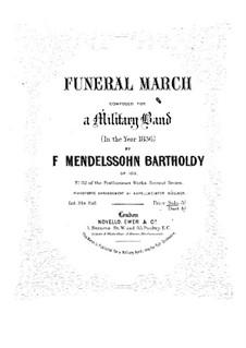 Траурный марш, Op.103: Для фортепиано by Феликс Мендельсон-Бартольди