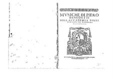 Musiche: Libro primo by Пьеро Бенедетти