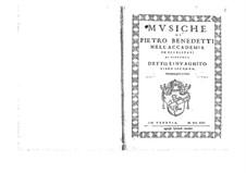 Musiche: Libro secondo by Пьеро Бенедетти