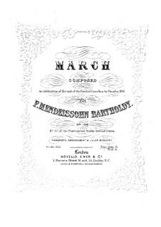 Марш ре мажор для оркестра, Op.108: Версия для фортепиано by Феликс Мендельсон-Бартольди