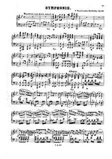Симфония No.2 си-бемоль мажор 'Хвалебный гимн', Op.52: Для фортепиано by Феликс Мендельсон-Бартольди