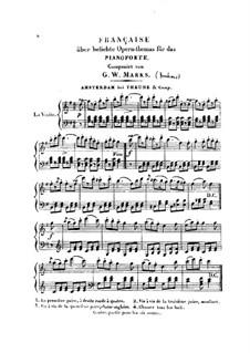 Française über beliebte Opern-Themas: Française über beliebte Opern-Themas by Иоганнес Брамс