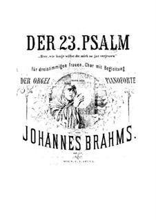 Псалом No.13 для женского хора и органа (или фортепиано), Op.27: Псалом No.13 для женского хора и органа (или фортепиано) by Иоганнес Брамс