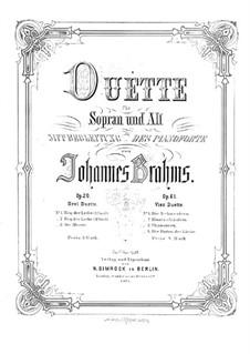 Дуэты для голосов и фортепиано, Op.61: Дуэты для голосов и фортепиано by Иоганнес Брамс