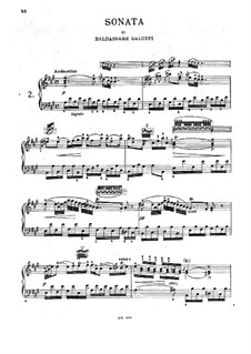 Четыре сонаты для клавесина: Четыре сонаты для клавесина by Бальдассаре Галуппи