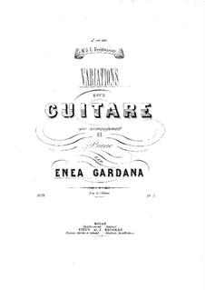 Вариации для гитары и фортепиано: Вариации для гитары и фортепиано by Enea Gardana