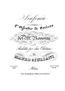 Осада Коринфа: Увертюра, для двух гитар by Джоаккино Россини