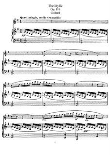 Пьесы для флейты и фортепиано, Op.116: Идиллия – партитура, сольная партия by Бенжамин Годар