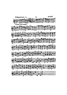 Canzon Decimanona: Basso part by Джозеффо Гуами
