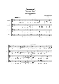 Resurrexi, motet for SATB a cappella, CS133: Resurrexi, motet for SATB a cappella by Santino Cara