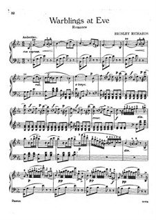 Transcription of Popular Melodies: Warblings at Eve by Бринли Ричардс