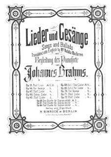 Четыре песни, Op.70: Сборник by Иоганнес Брамс