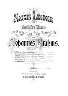 Шесть песен, Op.86: Сборник by Иоганнес Брамс