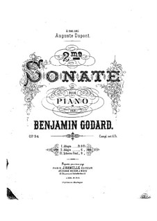 Соната для фортепиано No.2, Op.94: Соната для фортепиано No.2 by Бенжамин Годар