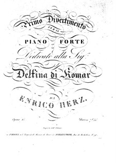 Дивертисмент No.1, Op.15: Дивертисмент No.1 by Анри Герц