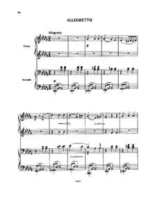 Аллегретто для фортепиано в четыре руки: Аллегретто для фортепиано в четыре руки by Александр Бородин