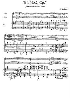 Фортепианное трио No.2 до мажор, Op.87: Фортепианное трио No.2 до мажор by Иоганнес Брамс