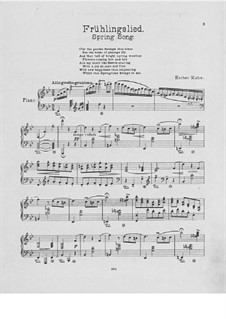 Spring Song. Piece for Piano: Spring Song. Piece for Piano by Esther Kahn