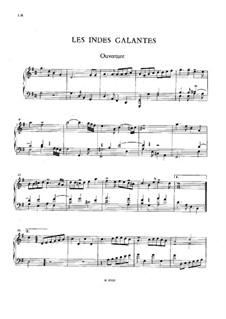 Галантная Индия, RCT 44: Избранные темы, для клавишного инструмента by Жан-Филипп Рамо