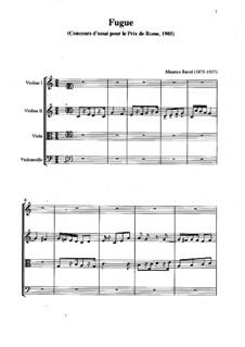 Фуга для фортепиано до мажор, M.44: Версия для струнного квартета by Морис Равель