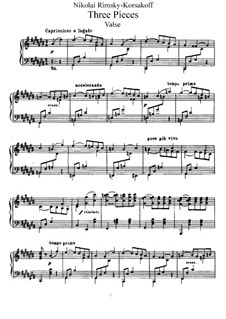 Три пьесы, Op.15: Сборник by Николай Римский-Корсаков