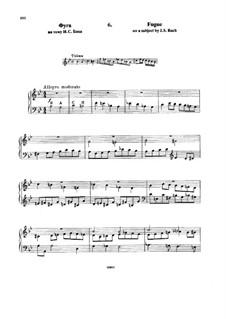 Шесть вариаций на тему BACH, Op.10: No.6 Фуга by Николай Римский-Корсаков