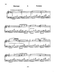 Шесть вариаций на тему BACH, Op.10: No.4 Ноктюрн by Николай Римский-Корсаков