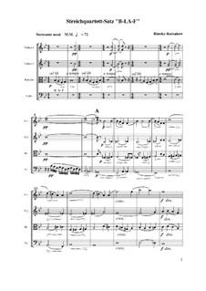 Струнный квартет на тему 'B-la-F': Часть I by Николай Римский-Корсаков