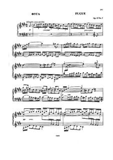 Три пьесы, Op.15: No.3 Фуга by Николай Римский-Корсаков