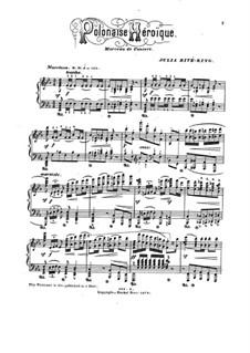 Героический полонез: Для фортепиано by Джулия Риве-Кинг