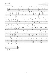 Pieces for Lute: Pieces for Lute by Esaias Reusner