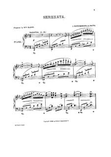 Три фортепианные пьесы, Op.29: No.3 Серенада by Йозеф Габриэль Райнбергер
