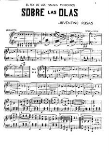 Над волнами: Для фортепиано by Хувентино Росас