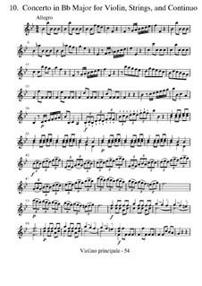 Концерт для скрипки с оркестром No.10 си-бемоль мажор 'La caccia', RV 362 : Партии by Антонио Вивальди
