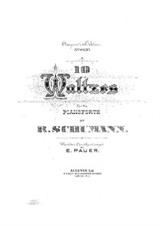 Бальные сцены, Op.109: No.3, 8 by Роберт Шуман