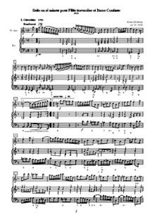 Suite en ré mineur pour Flûte traversière et Basse Continue, Op.55: Suite en ré mineur pour Flûte traversière et Basse Continue by Klaus Miehling