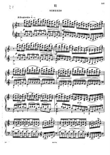 Соната для фортепиано No.2 ми минор, Op.75: Часть II by Александр Глазунов