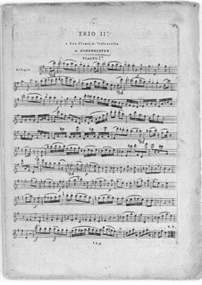 Шесть трио для двух флейт и виолончели, Op.31: No.2 в соль мажоре by Франц Антон Хофмайстер