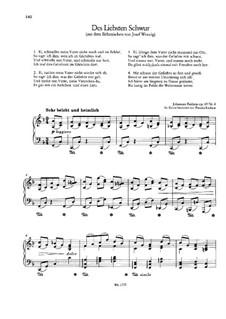 Девять песен и романсов, Op.69: No.4 Клятва любимой, для фортепиано by Иоганнес Брамс