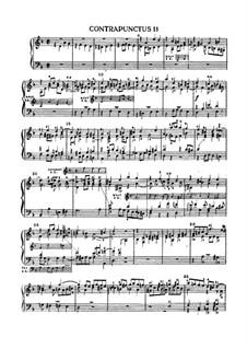 Искусство фуги, BWV 1080: No.11 by Иоганн Себастьян Бах