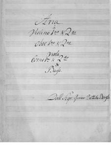 Ария для голоса и оркестра: Ария для голоса и оркестра by Giovanni Battista Borghi