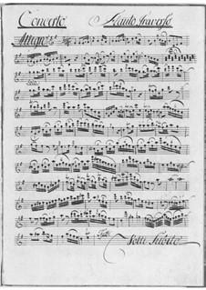 Концерт для флейты с оркестром соль мажор: Концерт для флейты с оркестром соль мажор by Антонин Фильц