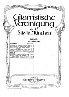Gitarristische Vereinigung. Jahrgang XIII, Nr.2: Gitarristische Vereinigung. Jahrgang XIII, Nr.2 by Мауро Джулиани, Х. Циммерманн, Heinrich Albert