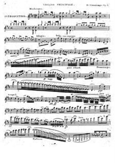 Вариации на тему из оперы 'Пират' Беллини, Op.6: Партия скрипки by Анри Вьетан