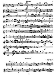 Соната для флейты и бассо континуо соль минор: Сольная партия by Антонио Вивальди